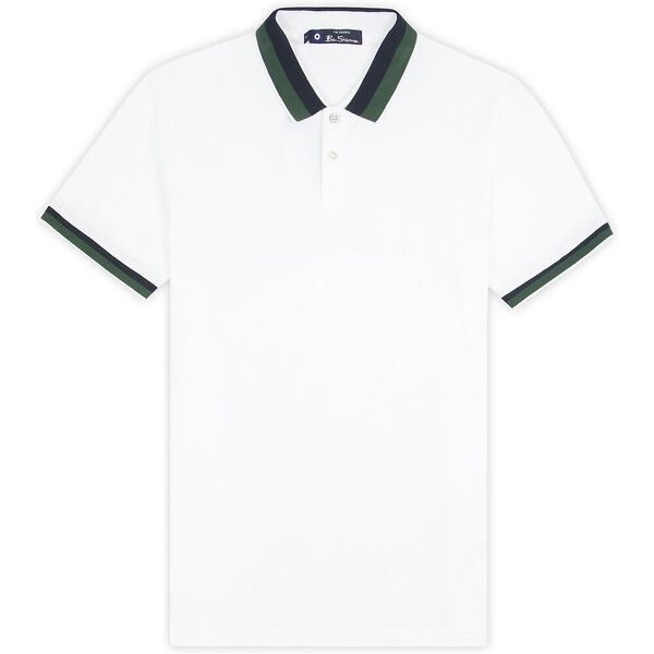 EMBROIDERED LOGO JERSEY POLO, WHITE, hi-res