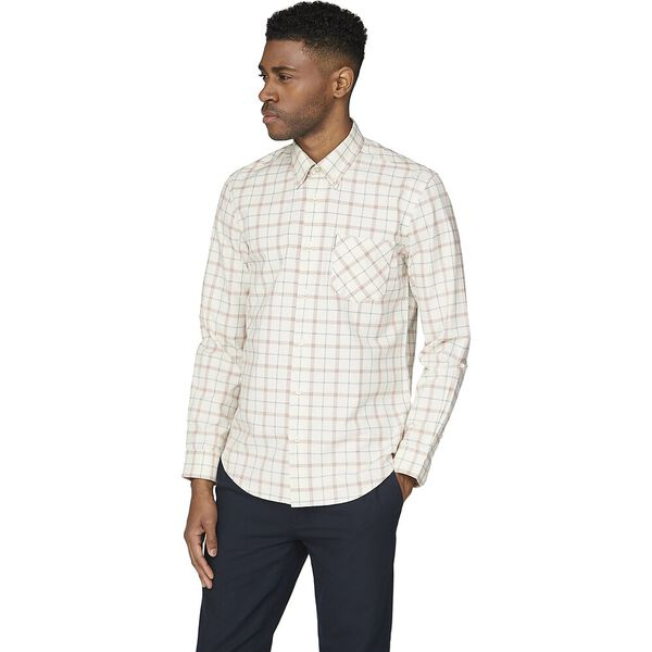 Ls Windowpane Shirt Off White, OFF WHITE, hi-res