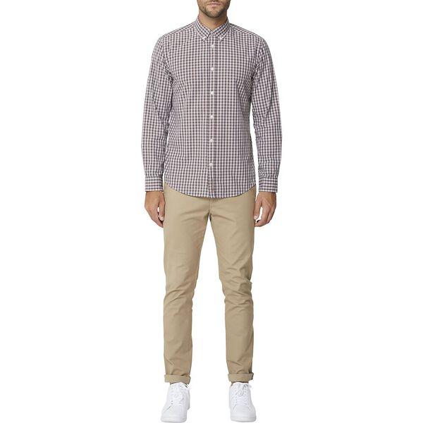 Small Check Mod Ls Shirt Brown, BROWN, hi-res