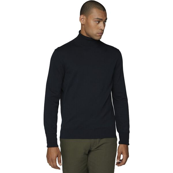 COTTON ROLL NECK BLACK