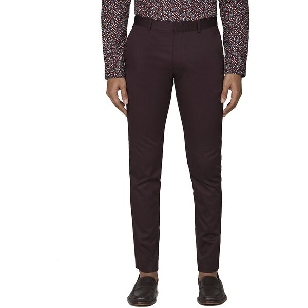 BURGUNDY COTTON TROUSER