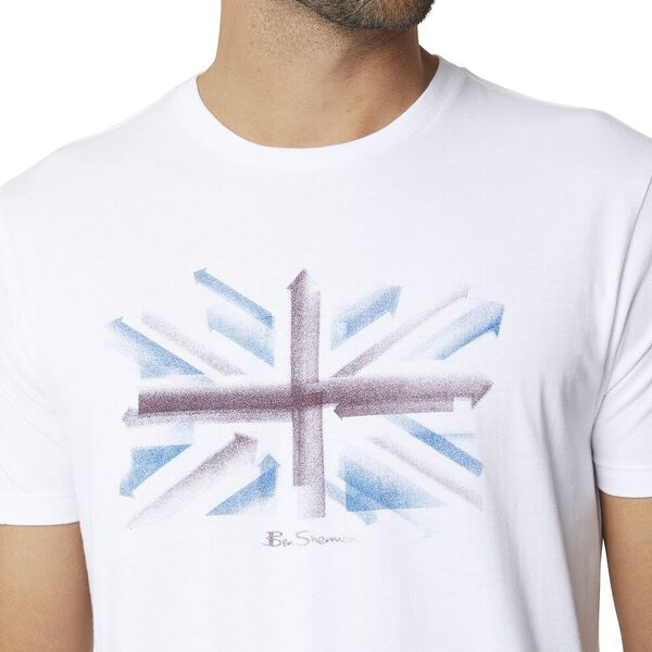 SPRAY ARROWS TEE WHITE, WHITE, hi-res