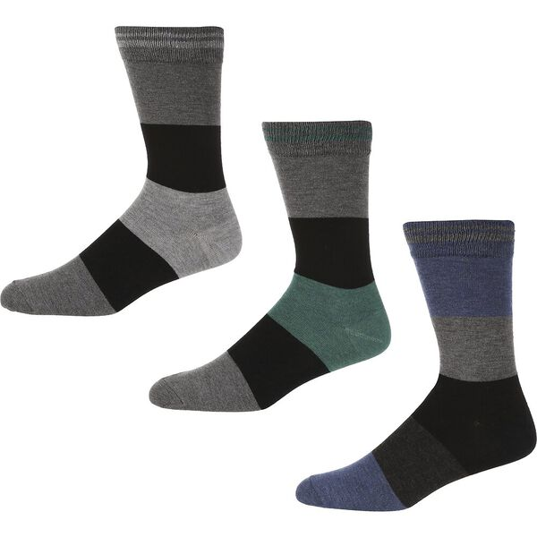 BLAKENEY 3PK SOCKS BURGUNDY/DENIM