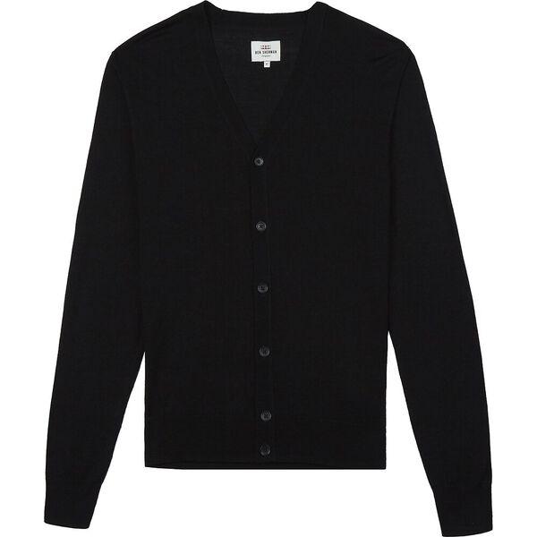 Merino Cardigan Black, BLACK, hi-res