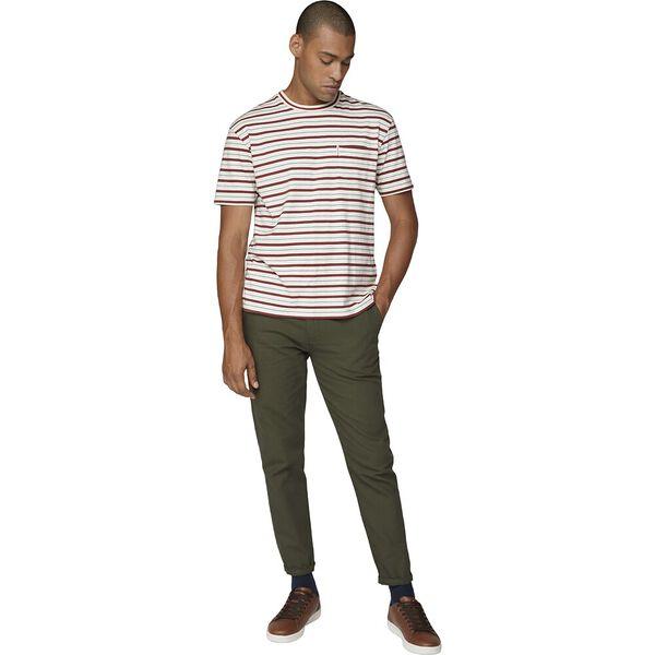 Retro Stripe Tee Ivory, IVORY, hi-res