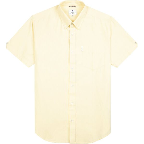 SIGNATURE OXFORD SHIRT, YELLOW, hi-res