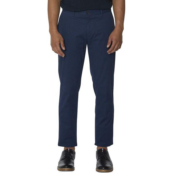 Printed Slim Trouser, MIDNIGHT, hi-res