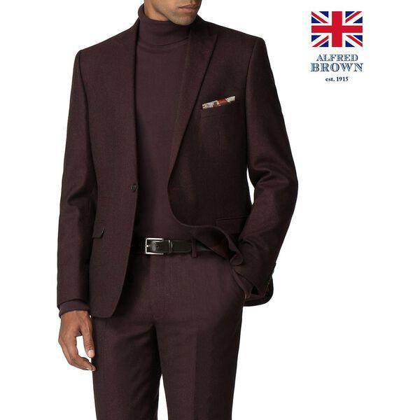 British Vintage Mulberry Flannel Jacket