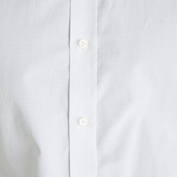 FORMAL DOT DOBBY KINGS SHIRT, WHITE, hi-res