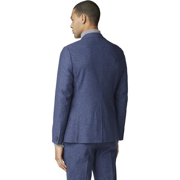 Mid Blue Speckle Jacket Blue, BLUE, hi-res