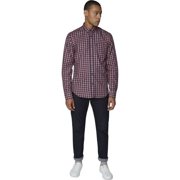 Ls Basket View Gingham Shirt Red, RED, hi-res