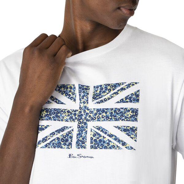 FLORAL FLAG TEE, WHITE, hi-res