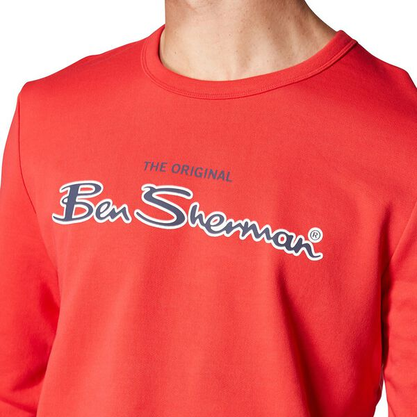 Logo Colour Block Sweat Red, RED, hi-res
