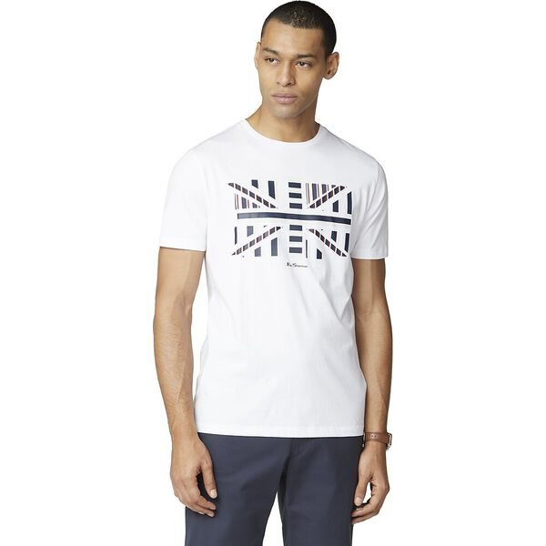 Union Jack J Influence Chevron Block Tee, WHITE, hi-res
