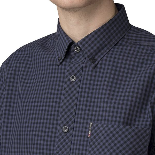Gingham Shirt, BLUE GREY, hi-res