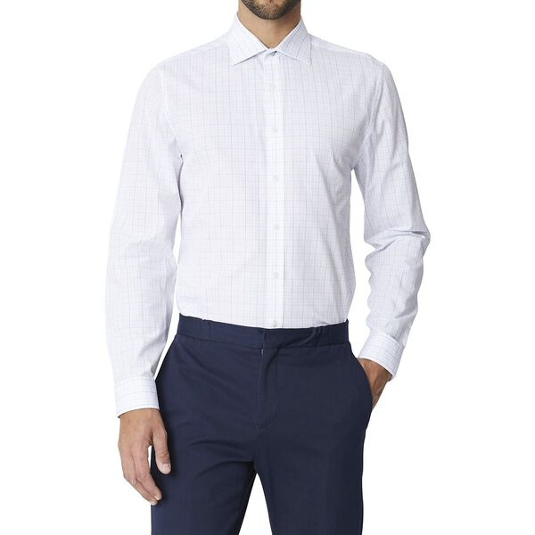 Ls Formal Kings Grid Check Shirt True Na