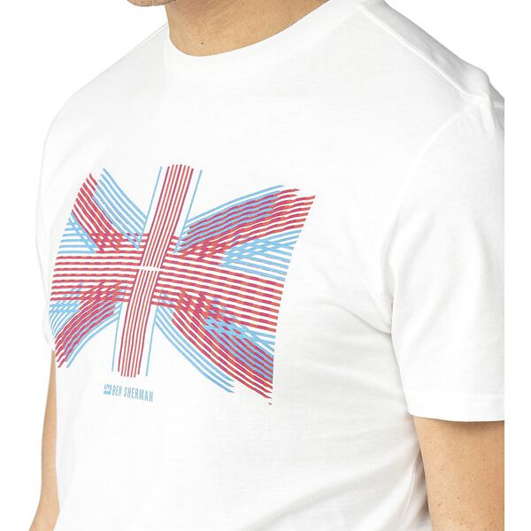 UNION LINES T-SHIRT, WHITE, hi-res