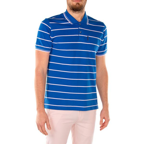 Stripe Pocket Pique Polo, ROYAL BLUE, hi-res