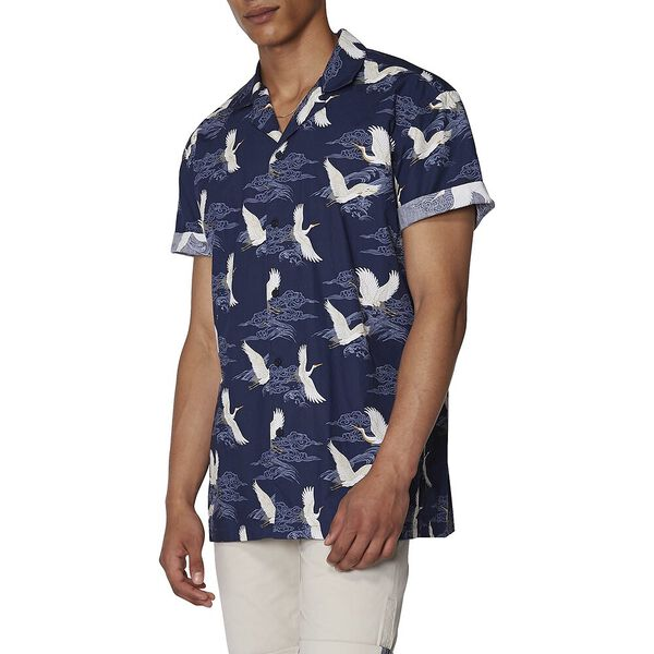 Oriental Hawaiian Shirt, MIDNIGHT, hi-res