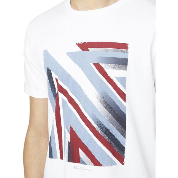 UNION JACK STIPPLE FLAG TEE, WHITE, hi-res