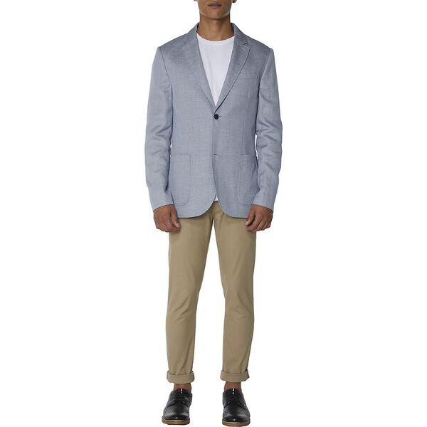Textured Linen Blend Blazer, NAVY WHITE, hi-res