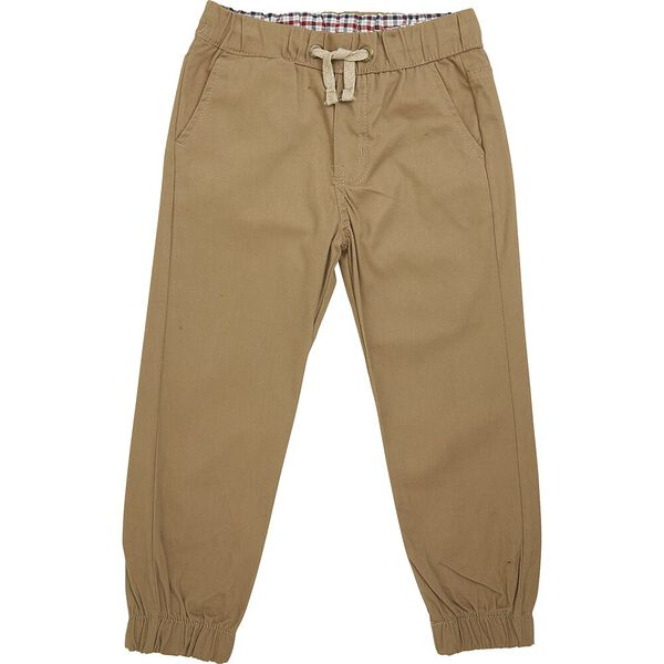 Woven Pull On Pants Rust