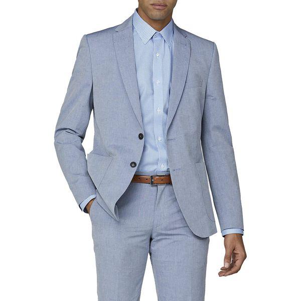 Blue Chambray Jacket, ROYAL BLUE, hi-res