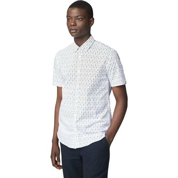Ss Paisley Print Shirt Off White