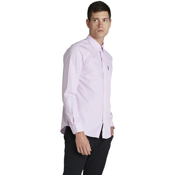 MOD BANKER STRIPE SHIRT, DUSTY PINK, hi-res