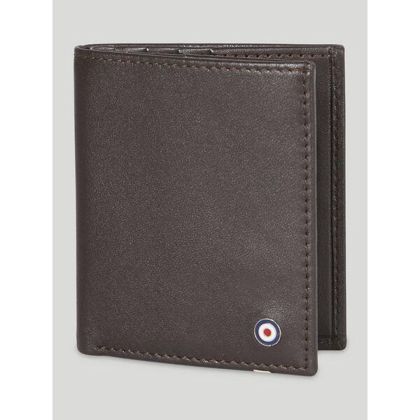LEATHER CARD CASE WALLET, BROWN, hi-res