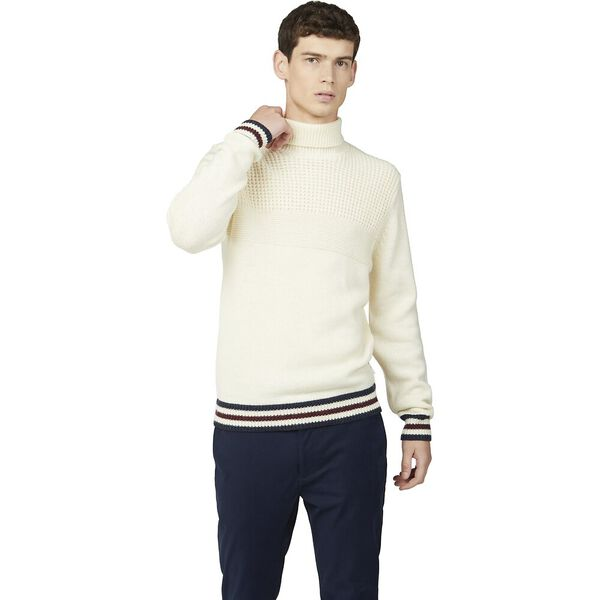 TEXTURED ROLL NECK KNIT