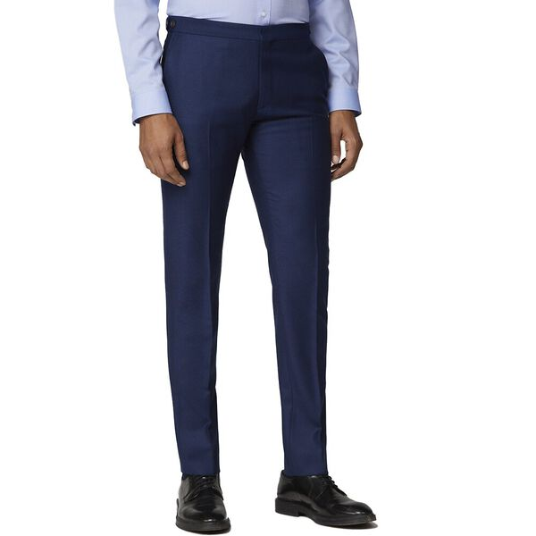 British Bright Blue Crepe Trouser Bright