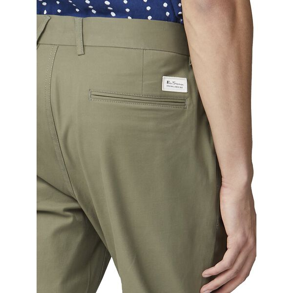 SIGNATURE SKINNY STRETCH CHINO, OLIVE, hi-res