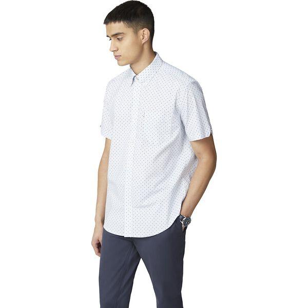 Polka Print Shirt, SKY, hi-res