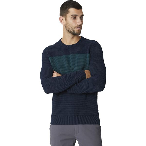 HERRINGBONE PANEL KNIT MIDNIGHT, MIDNIGHT, hi-res
