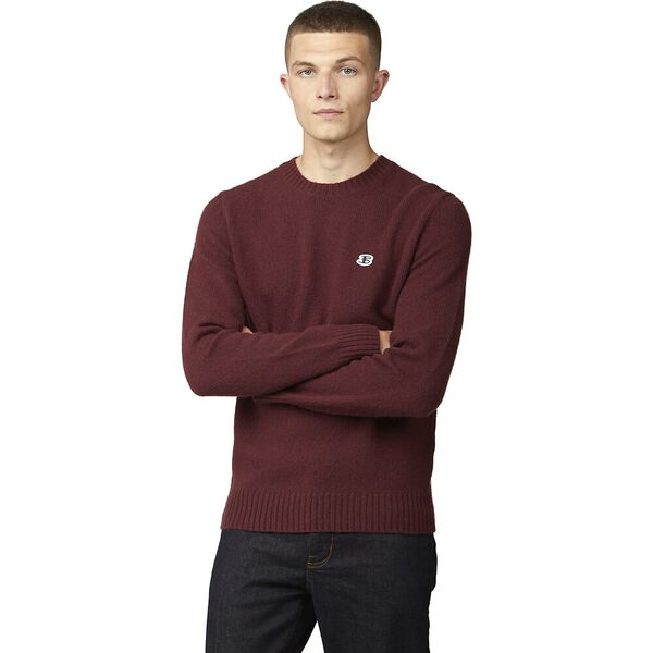 WOOL BLEND BASIC CREW KNIT