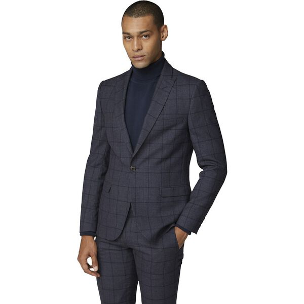 British Slate Windowpane Jacket Slate