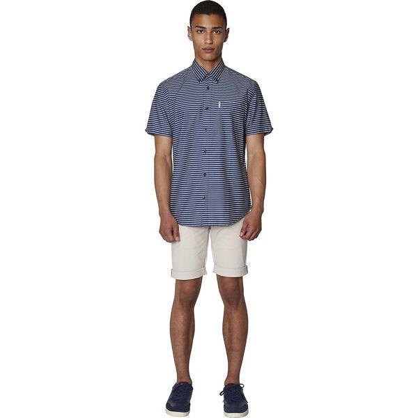 Distressed Stripe Shirt, NAVY, hi-res