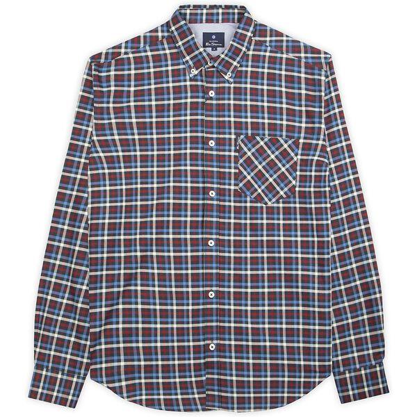House Gingham Shirt, BLUE, hi-res