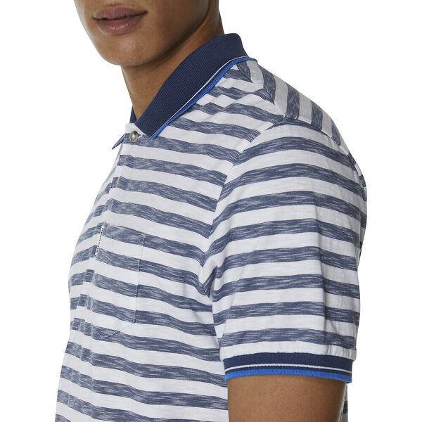 Slub Stripe Pocket Polo, DARK NAVY, hi-res