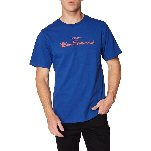 LOGO COLOUR BLOCK TEE ROYAL BLUE