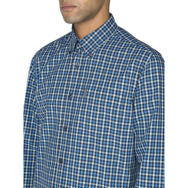LS HOUSE GINGHAM SHIRT, MARINE, hi-res