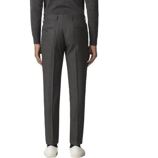 British Crepe Weave Gingham Trouser, CHARCOAL, hi-res