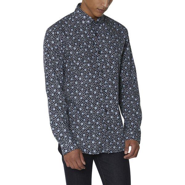 Ls Ivy Floral Print Shirt, NAVY, hi-res