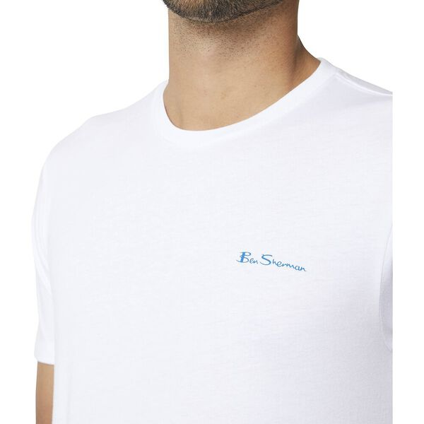 Chest Logo Crew Tee White, WHITE, hi-res