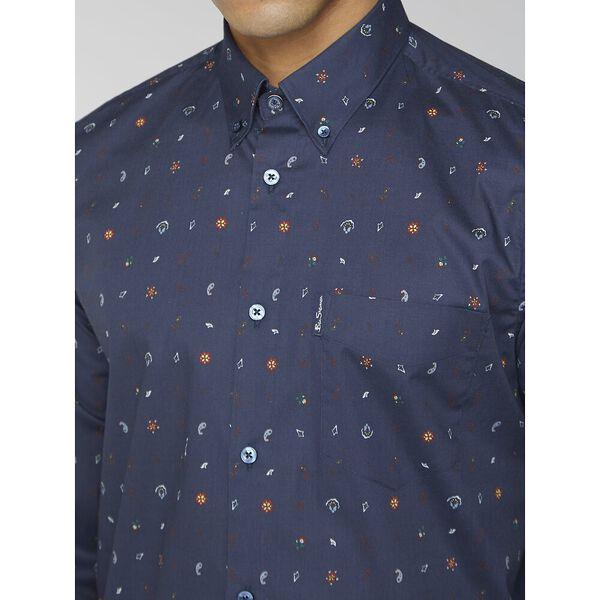 Conversational Print Shirt, DARK NAVY, hi-res