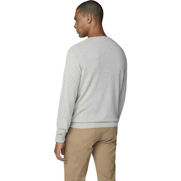 Cotton Crew Neck Knit, GREY, hi-res