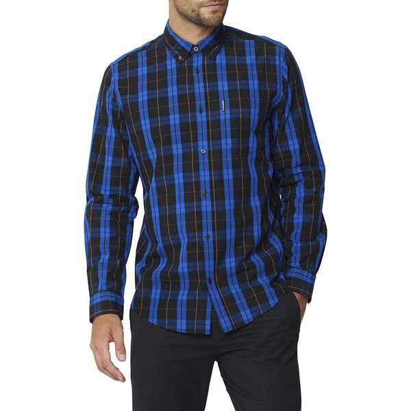 TWIN CHECK MOD SHIRT, ANTHRACITE, hi-res