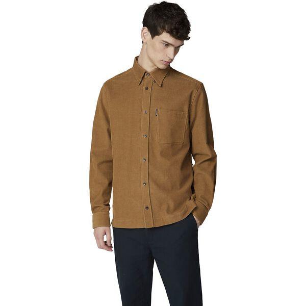 Ls Cord Overshirt Tan
