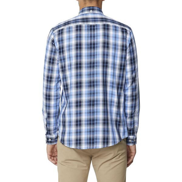 Twill Check Mod Ls Shirt Blue, BLUE, hi-res